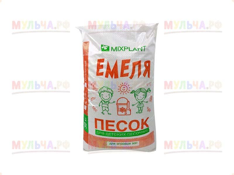Песок для детских песочниц Емеля, белый(карьерный) прокаленный, мешок 40 кг