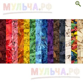 Щепа цветная и  натуральная - Древесная декоративная щепа цветная - купить по цене  производителя - магазин Мульча.рф